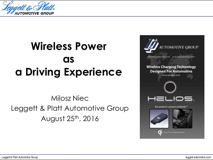 Milosz Niec - Wireless power as a driving experience
